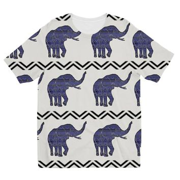 Purple Aztec African Elephant Designs by Amitie Kids Sublimation TShirt