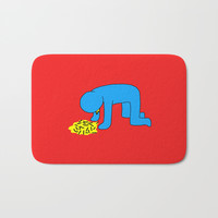 Keith Haring style - Too much alcohol - Funny Illustration Pop Art Bath Mat by Estef Azevedo