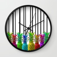 Neon Jungle Wall Clock by Lisa Argyropoulos