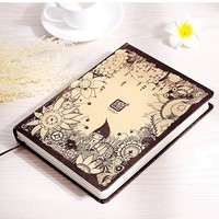 Creative Cute X's Secret Diary notebook kawaii Hardcover Vintage Color Pages Blank filofax sketchbook travelers school Notepad
