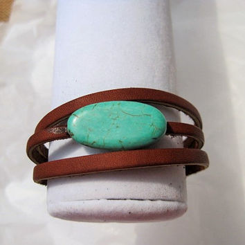 gemstone leather bracelet-wrist wrap-leather bracelet for women-leather cuff bracelet-Christmasinjuly-CIJ-cij-leather wrist wrap-wrist wrap