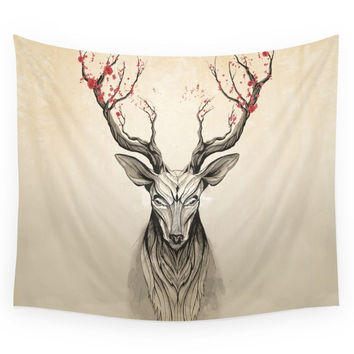 Society6 Deer Tree Wall Tapestry