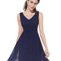 Cocktail Dresses Ever-Pretty HE03909 2017 Extra Size Elegant Sleeveless V-neck Short Party Cocktail Dress