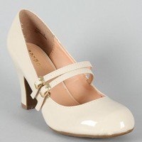 Bamboo Matty-64 Patent Mary Jane Pump