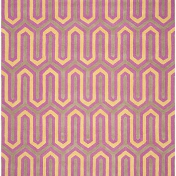 Cambridge Contemporary Indoorarea Rug Fuchsia / Grey