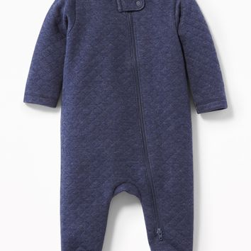Quilted Footed One-Piece for Baby | Old Navy