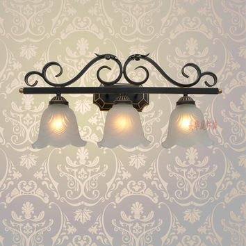 A1 European Style Wall Lamp Black Iron Lamp Special Offer Bedroom Bedside Lamps Lighting Mirror Lamp B3-2 Creative Pastoral
