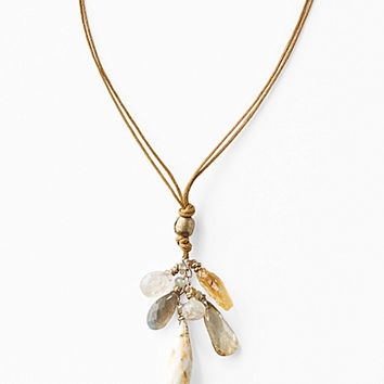 Avindy Cascading Neutral Gem Necklace