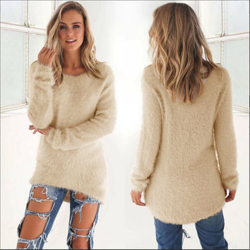 Women's Fashion Winter Stylish Long Sleeve Tops Sweater [8348555201]