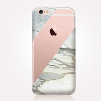 Transparent Marble Phone Case - Transparent Case - Clear Case - Transparent iPhone 6 - Samsung S7 - Soft TPU - Gel Case - iPhone SE