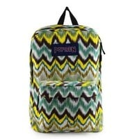 Vivid Colors Wave Pattern Canvas Backpack/Laptop Bag (Yellow)