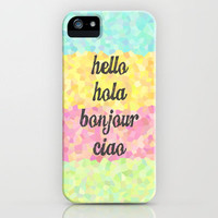Hello Colors iPhone Case by MN Art