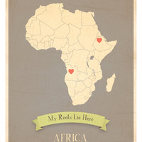My Roots Africa Map