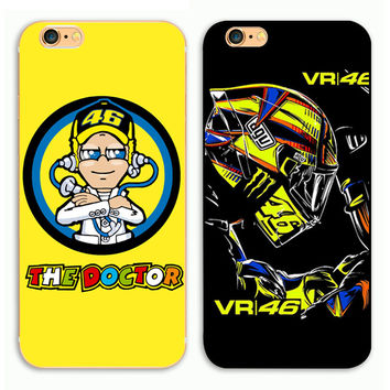 Valentino Rossi Moto GP The Doctor Racing Legend Phone Hard Plastic Case Cover For Apple iPhone 4 4S  5S SE 5c 6 6 S Plus 77plus