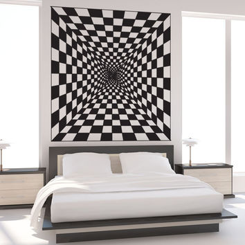 Vinyl Wall Decal Sticker Optical Illusion Hallway #OS_DC774