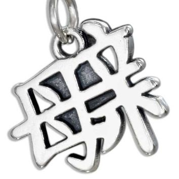"STERLING SILVER CHINESE SYMBOL ""MOTHER"" CHARM"