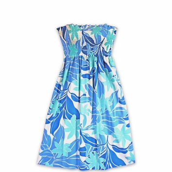 Sea Breeze Blue Moonkiss Hawaiian Dress