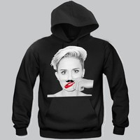Miley Cyrus Moustache Unisex Hoodie Funny and Music