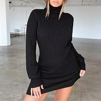 Turtleneck Sweaters Dress