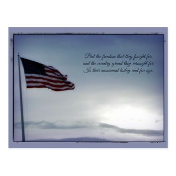 But for Freedom Fought ... Veterans Day Postcard