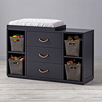 Topside Midnight Blue Wide Dresser