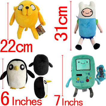 2016 New Adventure time Plush Toys Jake Finn Beemo BMO Penguin Gunter Ice king Cell Phone