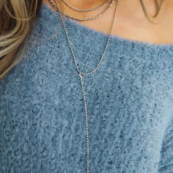 Bold Move Necklace: Silver