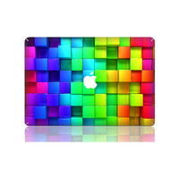 Rainbow Cubes MacBook Top Skin