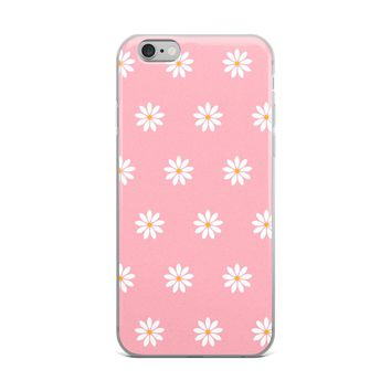 White Daisies on Pink Phone Case ~ iPhone Samsung