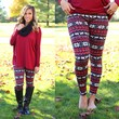Home For The Holidays Fleece Lined Leggings