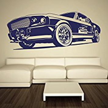 Wall Decal Vinyl Sticker Decals Art Decor Design Old Retro Vintage Sport Car Auto Moto Speed Kids Style Gift Nursery Mans Bedroom (r565) by CreativeWallDecals