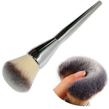 Very Big Beauty Powder Brush Blush Foundation Round Make Up Tool Large Cosmetics Aluminum Brushes Soft Face Makeup,Free Shipping
