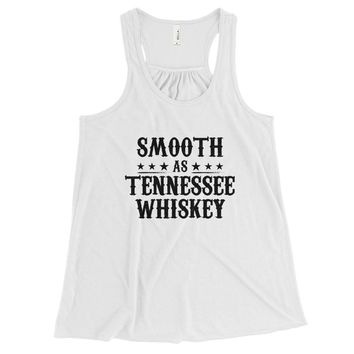 Smooth As Tennessee Whiskey - Women's Flowy Racerback Tank Top - Various Colors Available