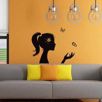Wall Decals  Vinyl Decal Sticker Home Decor Art Murals  Girl  Hairdressing Beauty Saloon Bedroom Bathroom Chu1179