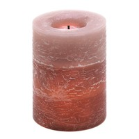 Rustic Wood Spice Scented Flameless LED Pillar Candle