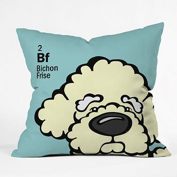 Angry Squirrel Studio Bichon Frise 2 Throw Pillow