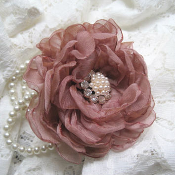 Flower Girl Small Wrist Pearl Wrist Corsage Designed in Your Color Choice with Pearl and Rhinestone Accent Wedding Accessories Communion