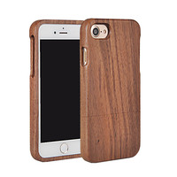 100% Wood Phone Cases For iphone 7 7 Plus 6 6S 6 Plus 5 5S 5C SE 5G 4 4S Back Cover Case Bamboo Walnut Rose Wooden Shell Fundas