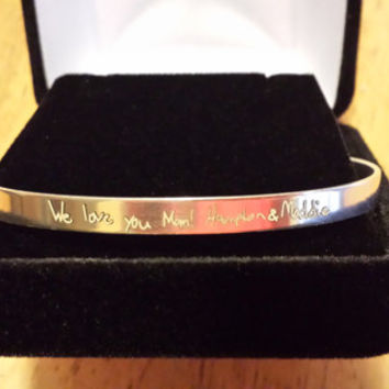 Say anything in your handwriting! The ORIGINAL STERLING SILVER Signature Expressions Handwriting Bracelet