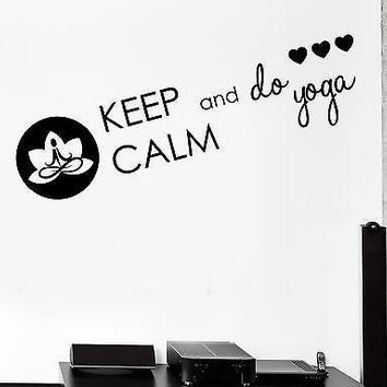 Wall Decal Keep Calm Do Yoga Zen Buddhism Vinyl Stickers Art Mural Unique Gift (ig2599)