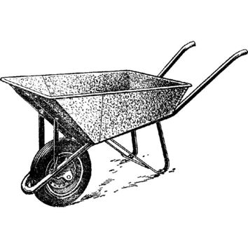 Iron Wheelbarrow Plastisol Heat Transfer