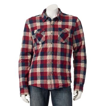 Chor Woven Plaid Shirt Jacket - Men