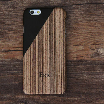 Men Style Wood Geometric Design iPhone 6 Case/Plus/5S/5C/5/4S Protective Case #441
