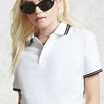 Cropped Polo Shirt
