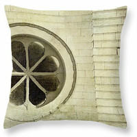 Old Church Window decorative throw pillow, novelty cushion, accent pillow, square or lumbar pillows, cushion covers, pillow covers