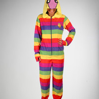 Adventure Time Lady Raincorn Hooded Footed Adult Pajamas