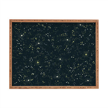 Joy Laforme Constellations In Midnight Blue Rectangular Tray