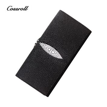 COSSROLL Luxury Brand Womens Wallets Embossing Floral PatternFemale Long Genuine Leather Wallet Coin Purse Ladies Clutch Wallet