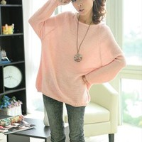 L 071303 Beige Loose bat sleeve Hollow Sweater-2 from cassie2013