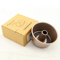 Cake Bread Mold Convex Column Round Cup Heavy Steel Champagne Gold 4 Inches (Size: 10cm by 4.8cm, Color: Gold)